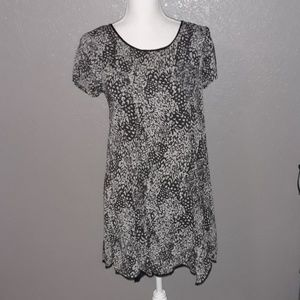 Silence + noise dress. Black/grey. Size small